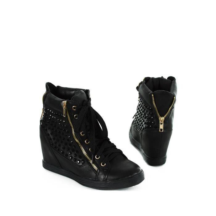 Chaussures strass noires femme 1018 22 E14 Ces chaussures en