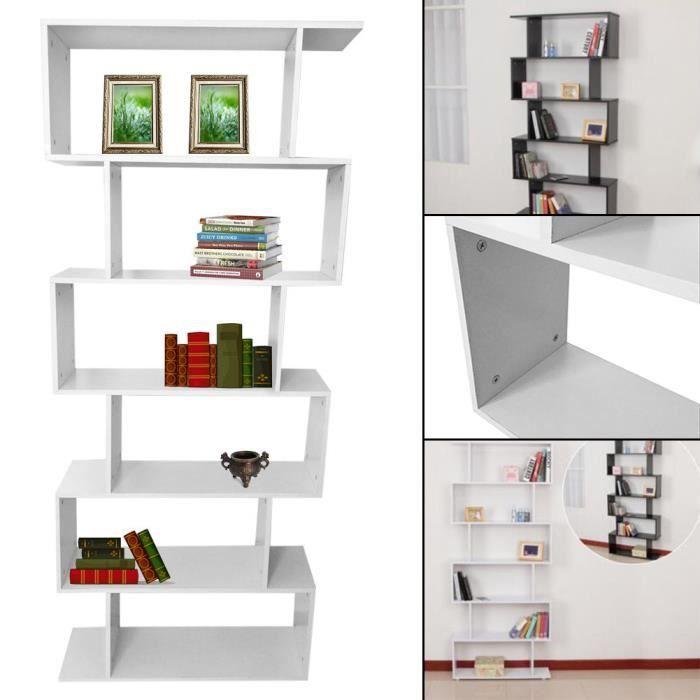 Etag re biblioth que noir et blanc achat vente meuble tag re etag re bib - Etagere escalier blanc ...
