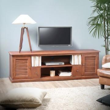 Meuble de t l en acajou 180 loggia achat vente meuble for Meuble tv acajou