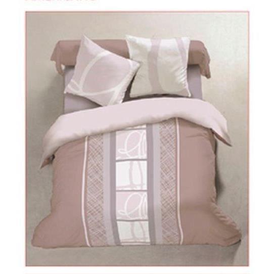 Parure de lit flanelle 160 x 200 cm vieux rose achat vente parure de drap soldes d hiver - Parure de lit en flanelle 2 personnes ...