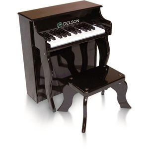 PIANO Piano droit enfant noir delson 25 touches