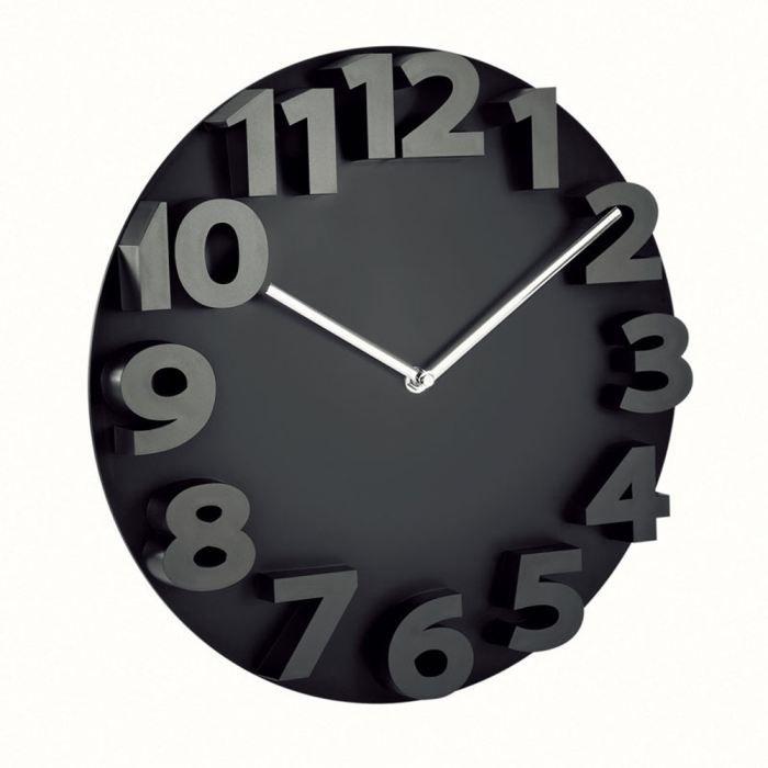 pendule murale plastique noire achat vente horloge plastique et verre cdiscount. Black Bedroom Furniture Sets. Home Design Ideas