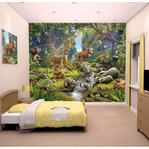 Papier peint enfant Fresque Murale Décorative Animaux de la For?t