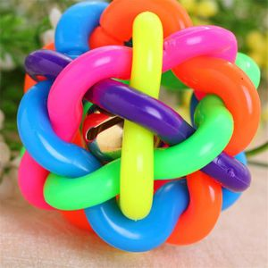 BALLE - FRISBEE Hand-woven Colorful Dog Ball Toy avec cloche pour