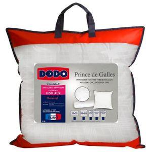 OREILLER DODO Oreiller Prince de Galles 60x60 cm blanc
