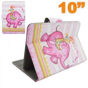 Housse universelle tablette tactile 10 10.1 pouces éléphant rose