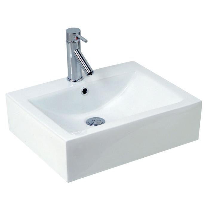 vasque en c 233 ramique cubic blanc achat vente lavabo vasque vasque porcelaine cubic blanc
