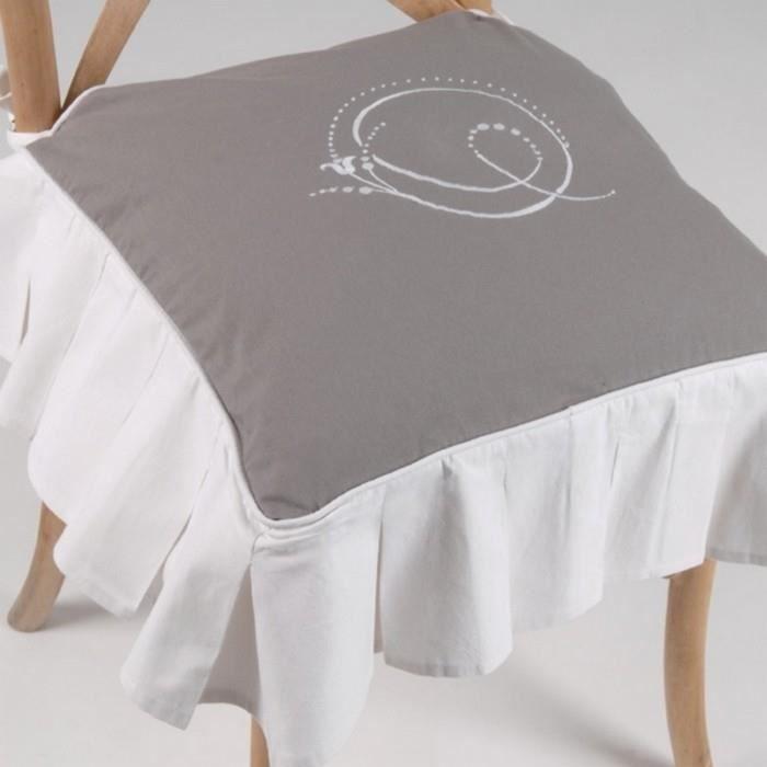 Galette de chaise avec son coussin achat vente coussin for Coussin de chaise 45x45