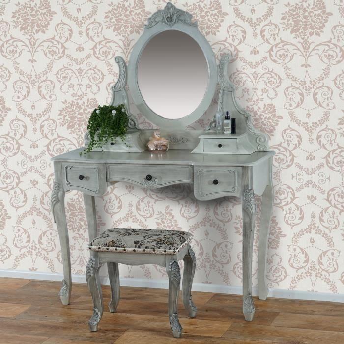 Meuble coiffeuse pour chambre meuble chambre conforama 9 for Coiffeuses avec miroir