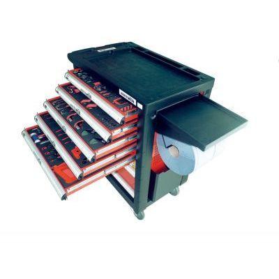 servante atelier 7 tiroirs avec 227 outils drakkar achat. Black Bedroom Furniture Sets. Home Design Ideas