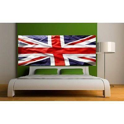 papier peint t te de lit drapeau anglais 3689 dimensions. Black Bedroom Furniture Sets. Home Design Ideas