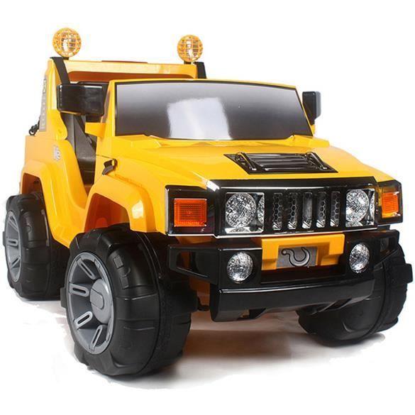 voiture lectrique 12v hummer jaune t l commande parentale achat vente voiture enfant. Black Bedroom Furniture Sets. Home Design Ideas