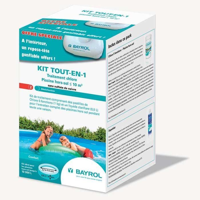 kit tout en 1 pour piscine hors sol 1 350 kg bayrol. Black Bedroom Furniture Sets. Home Design Ideas