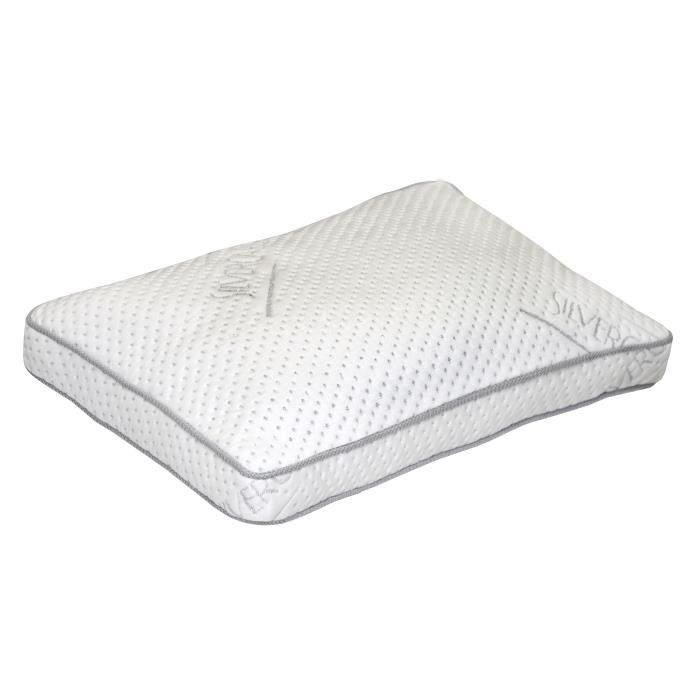 dormipur oreiller mousse m moire de forme carat luxe confort soft 40x60 cm blanc achat. Black Bedroom Furniture Sets. Home Design Ideas