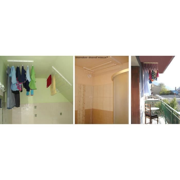 tendoir plafond suspendu 5barres 1m40 etend 39 mieux achat. Black Bedroom Furniture Sets. Home Design Ideas