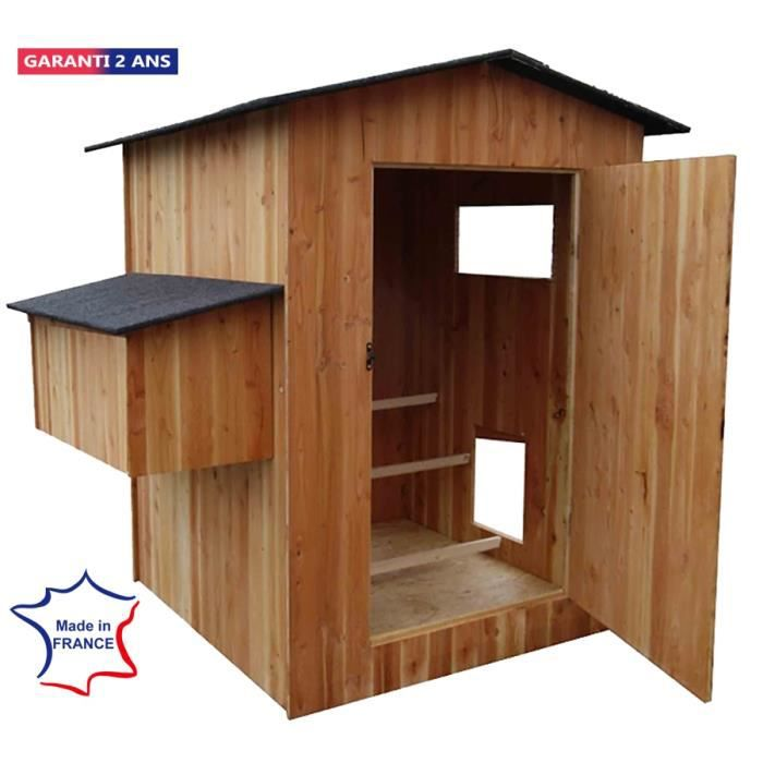 poulailler 6 a 12 poules palace en bois epicea fabrique en france achat vente poulailler. Black Bedroom Furniture Sets. Home Design Ideas