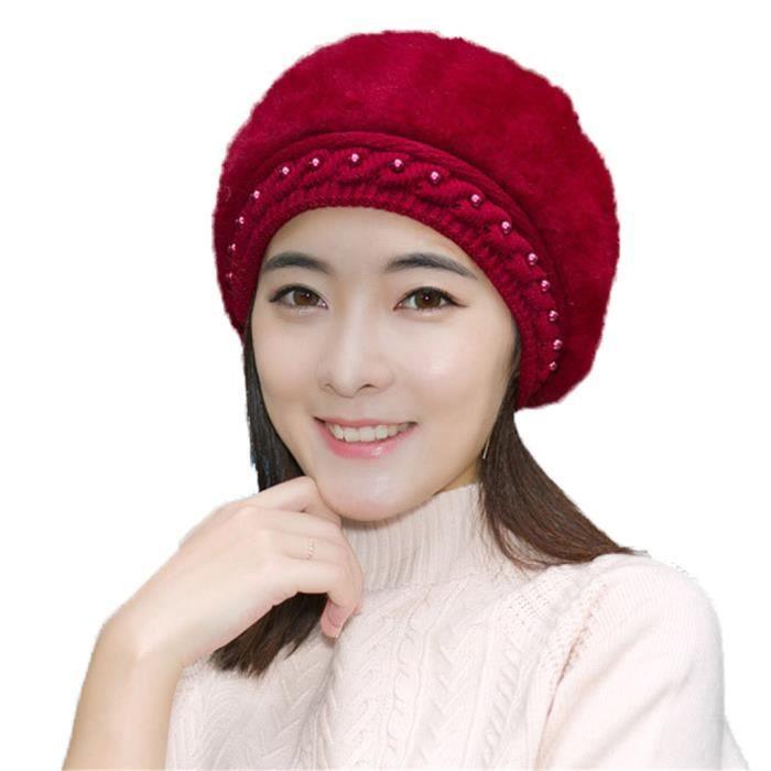 CEINTURE ET BOUCLE LaBelle,H Bonnet Femme Hiver Chaud Chapeau Femme F