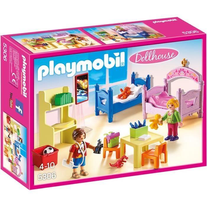 Playmobil 5306 chambre d 39 enfants avec lits superpos s achat vente univers miniature cdiscount - Chambre princesse playmobil ...