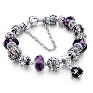 bracelet charms style pandora achat vente pas cher. Black Bedroom Furniture Sets. Home Design Ideas