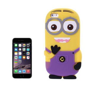 CÂBLE TÉLÉPHONE Coque Silicone iPhone 6 Plus Violet 3D Despicable