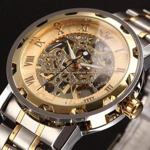 MONTRE Transparent Gold Suivre Montres Hommes Top Brand L
