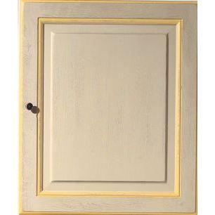 Facade 71 3x40 1porte provencale rechampie jaune achat for Facade cuisine jaune