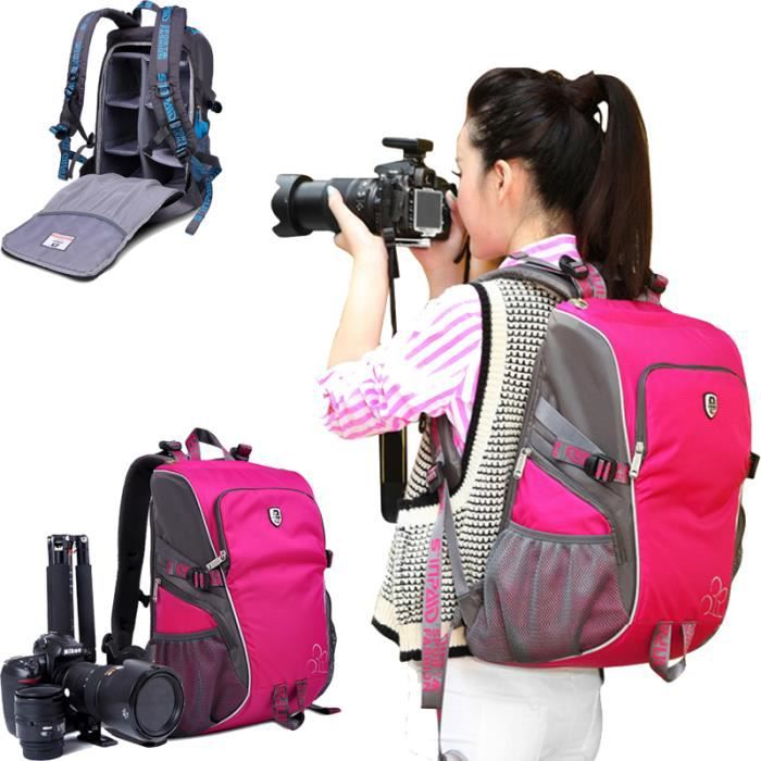 rose sac a dos appareil photo pour canon eos 70d sac a dos appareil photo de voyage. Black Bedroom Furniture Sets. Home Design Ideas