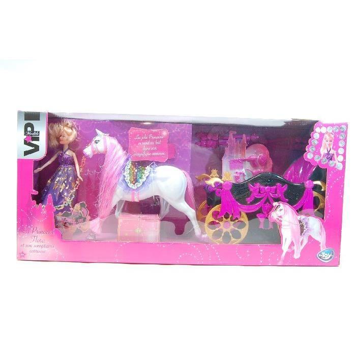 Poup e princesse flora et son carrosse achat vente - Carrosse barbie ...