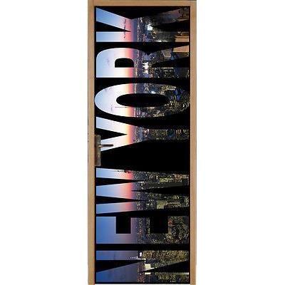 Sticker pour porte plane new york 83x204cm r f 052 achat - Sticker porte new york ...