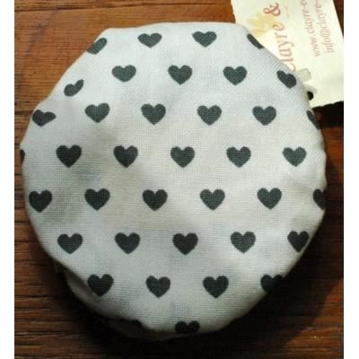 Couvre couvercle coeur gris pour pot de confiture ou bocal achat vente bo - Couvercle pot de confiture ...