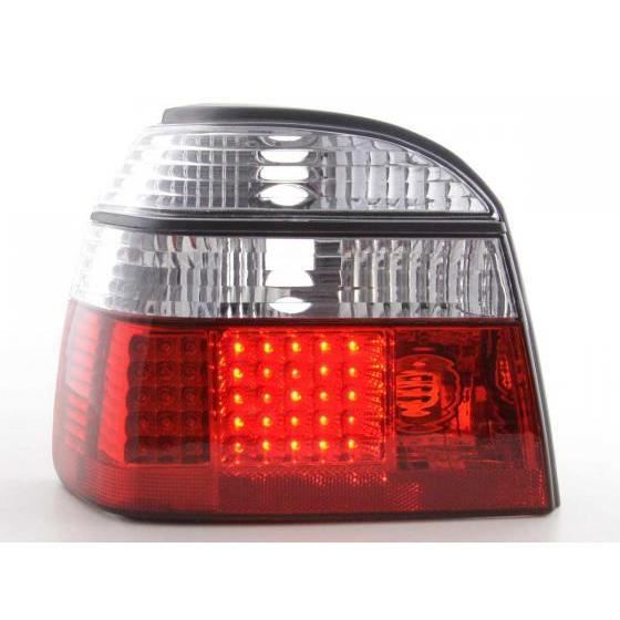 led feux arri res pour vw golf 3 type 1hxo an 92 97 clair rouge ann e 1992 1997. Black Bedroom Furniture Sets. Home Design Ideas