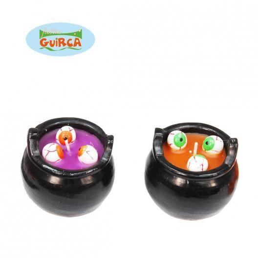 Chaudron bougies avec yeux 8cm achat vente d cors de for Decoration yeux