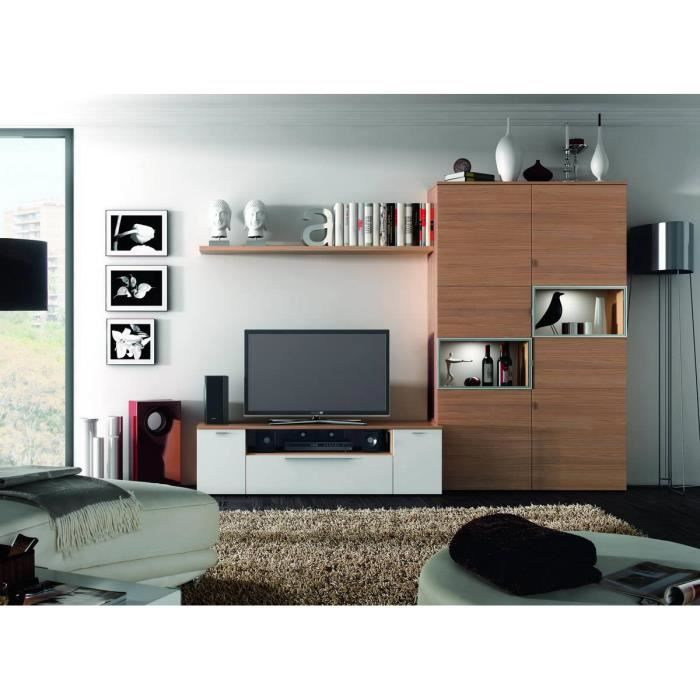 ensemble bibliotheque meuble tv vitre s avec achat. Black Bedroom Furniture Sets. Home Design Ideas