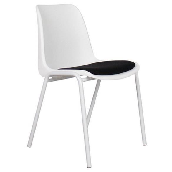 Chaise zuiver back to gym blanche et noire achat for Chaise noir et blanche