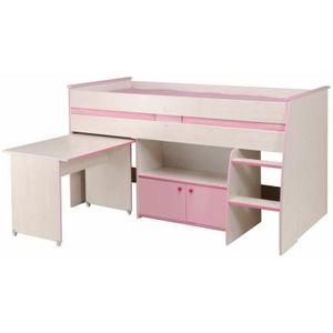 lit combine fille achat vente lit combine fille pas cher les soldes sur cdiscount cdiscount. Black Bedroom Furniture Sets. Home Design Ideas