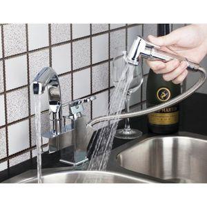 ROBINETTERIE DE CUISINE Pull Out évier de cuisine avec douche à main Chrom