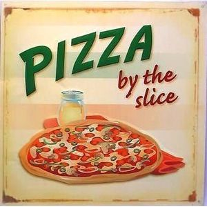 Plaque publicitaire pizza italie d co pub cuisine diner usa loft m tal tole m605 achat vente - Plaque deco cuisine ...