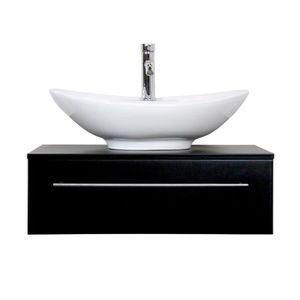 Meuble sous lavabo noir achat vente meuble sous lavabo noir pas cher les soldes sur - Meuble sous lavabo noir ...