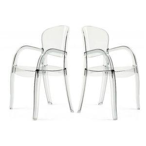 lot de 2 chaises transparentes victor achat vente. Black Bedroom Furniture Sets. Home Design Ideas