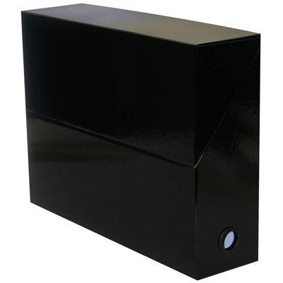 Boite de classement cartadine 34x25x9cm noir achat for Boite archive
