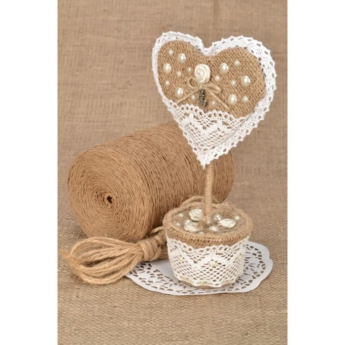 Arbre topiaire en forme de coeur original fait main - Objet decoratif original ...