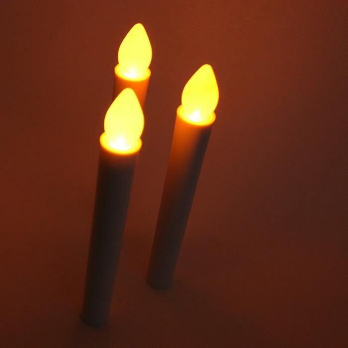 lot de 3 bougies led chandelles achat vente ampoule led cdiscount. Black Bedroom Furniture Sets. Home Design Ideas