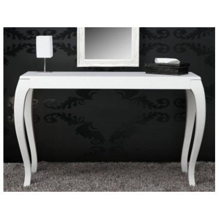 Console barocco blanc laqu e achat vente console console barocco blanc la - Console laquee blanc ...