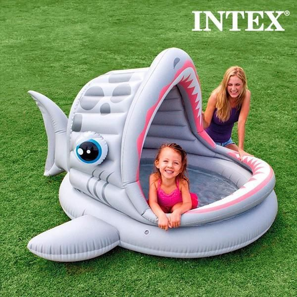 Piscine gonflable grand requin intex achat vente for Piscine intex gonflable