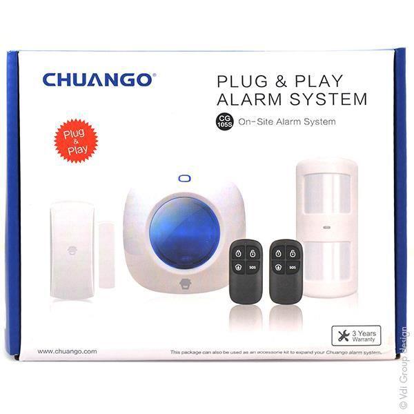 chuango syst me d 39 alarme chuango easy plug pour petite habitation ref cg 105s unit s. Black Bedroom Furniture Sets. Home Design Ideas