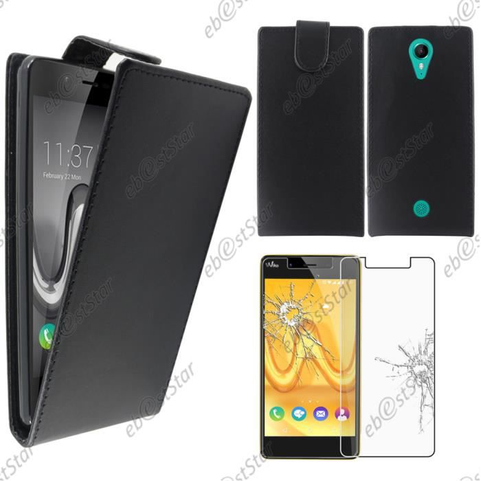 Ebeststar pour wiko tommy housse pu etui rabat for Housse wiko tommy 2