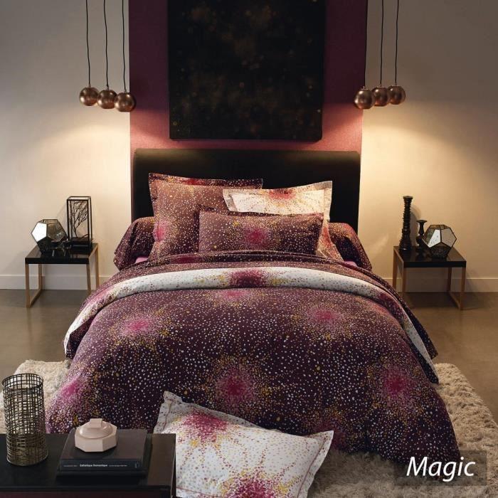 parure de lit 200x200 cm 100 coton magic achat vente parure de lit cdiscount. Black Bedroom Furniture Sets. Home Design Ideas