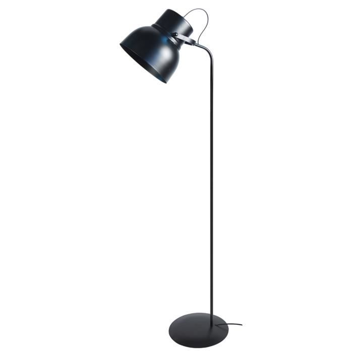 cloche lampadaire liseuse h150cm noir achat vente. Black Bedroom Furniture Sets. Home Design Ideas