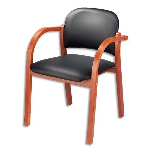 fauteuils visiteur p u noir acajou elva achat vente. Black Bedroom Furniture Sets. Home Design Ideas