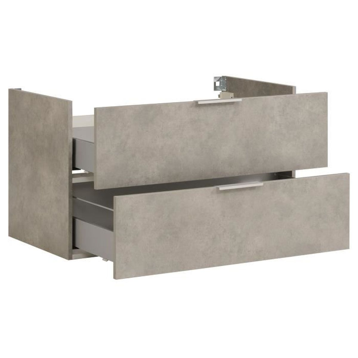 Luxy meuble de salle de bains effet b ton 90cm gris for Meuble salle de bain 90 cm